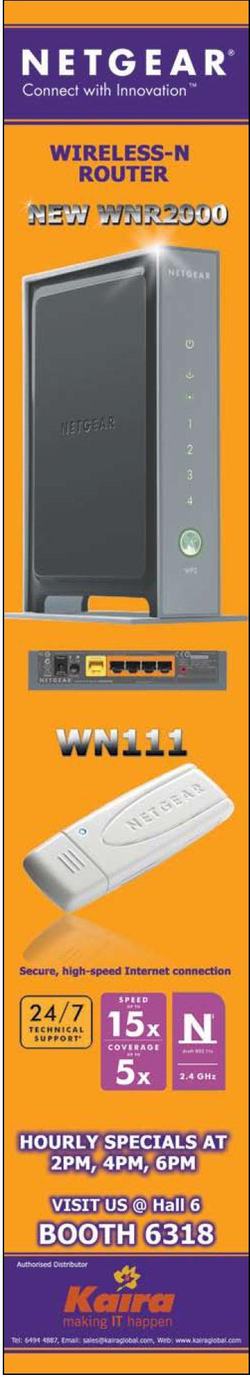 Comex 2008 price list image brochure of Netgear Wireless N Wnr2000 Wn1112 2