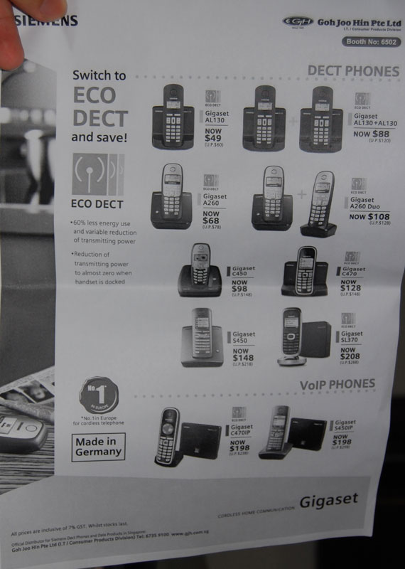 Comex 2008 price list image brochure of Siemens Dect Phones 2