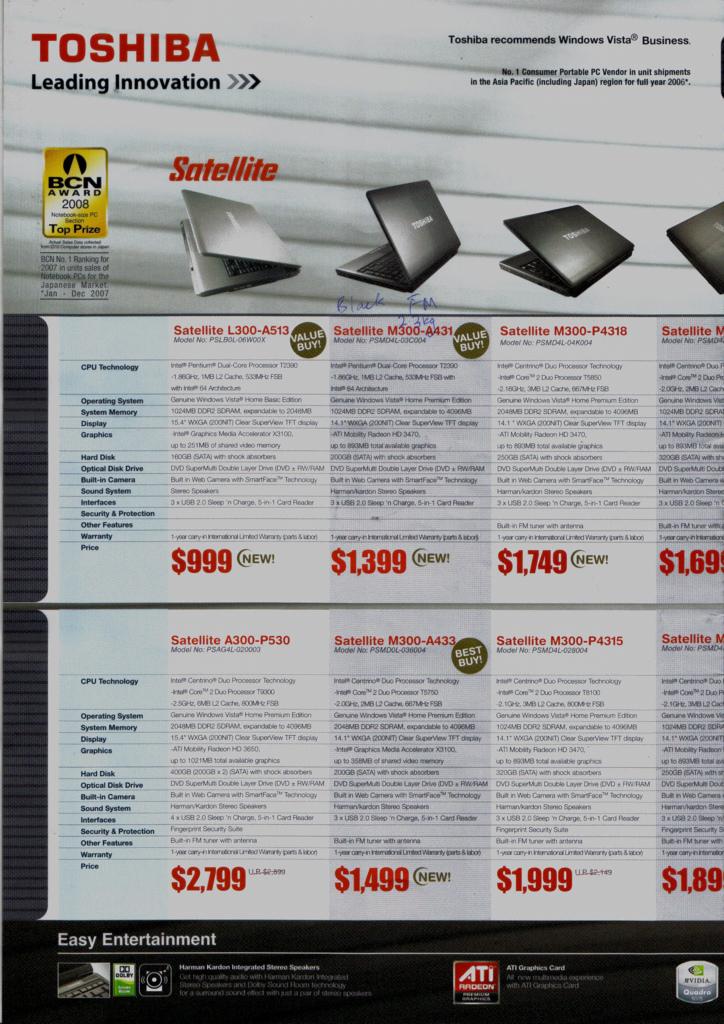 Comex 2008 price list image brochure of Toshiba Notebooks Maayub15toshiba 7d51d548f3 B