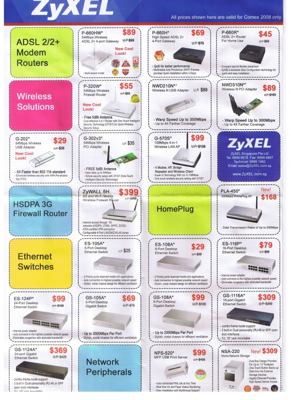 Comex 2008 price list image brochure of Zyxel2 L2aymond