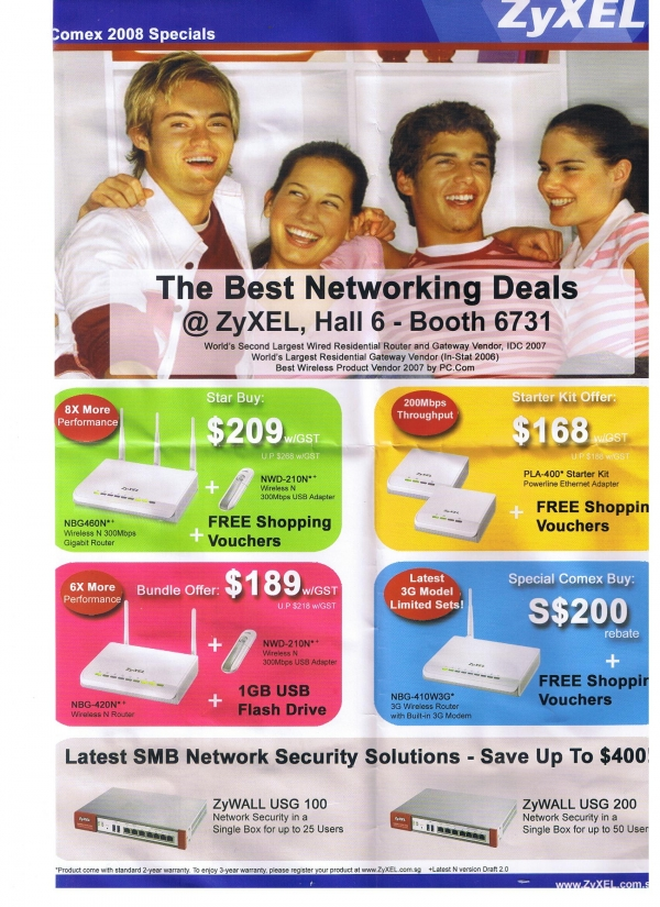 Comex 2008 price list image brochure of Zyxel  Router Networking L2aymond