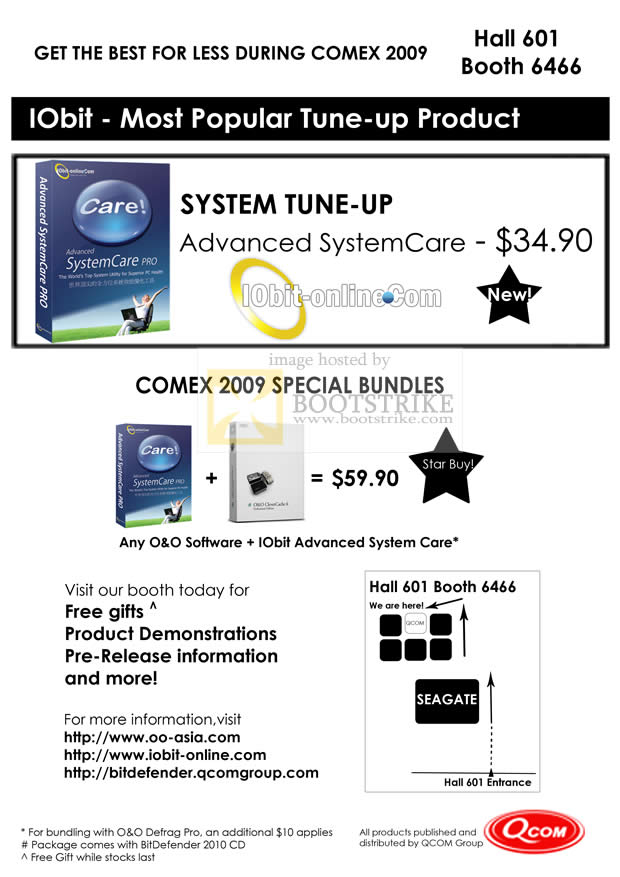 Comex 2009 price list image brochure of Advanced SystemCare PRO System Tune-Up IObit