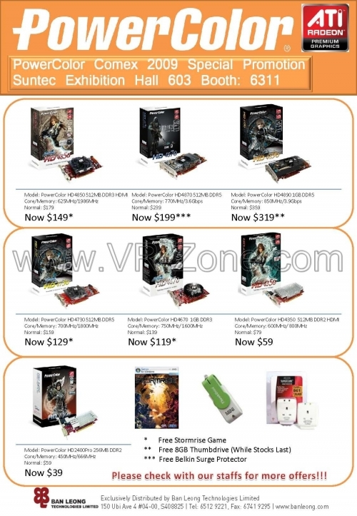Comex 2009 price list image brochure of Ban Leong PowerColor Graphic Cards
