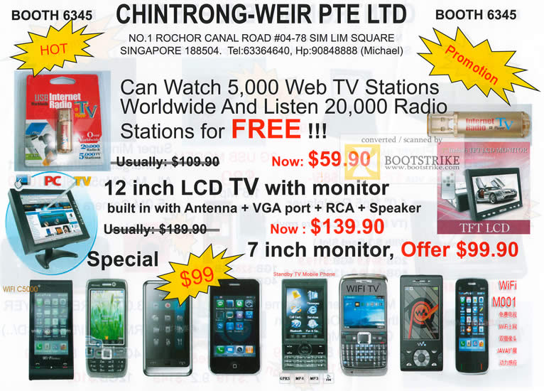 Comex 2009 price list image brochure of Chintrong-Weir LCD TV Internet Radio TV