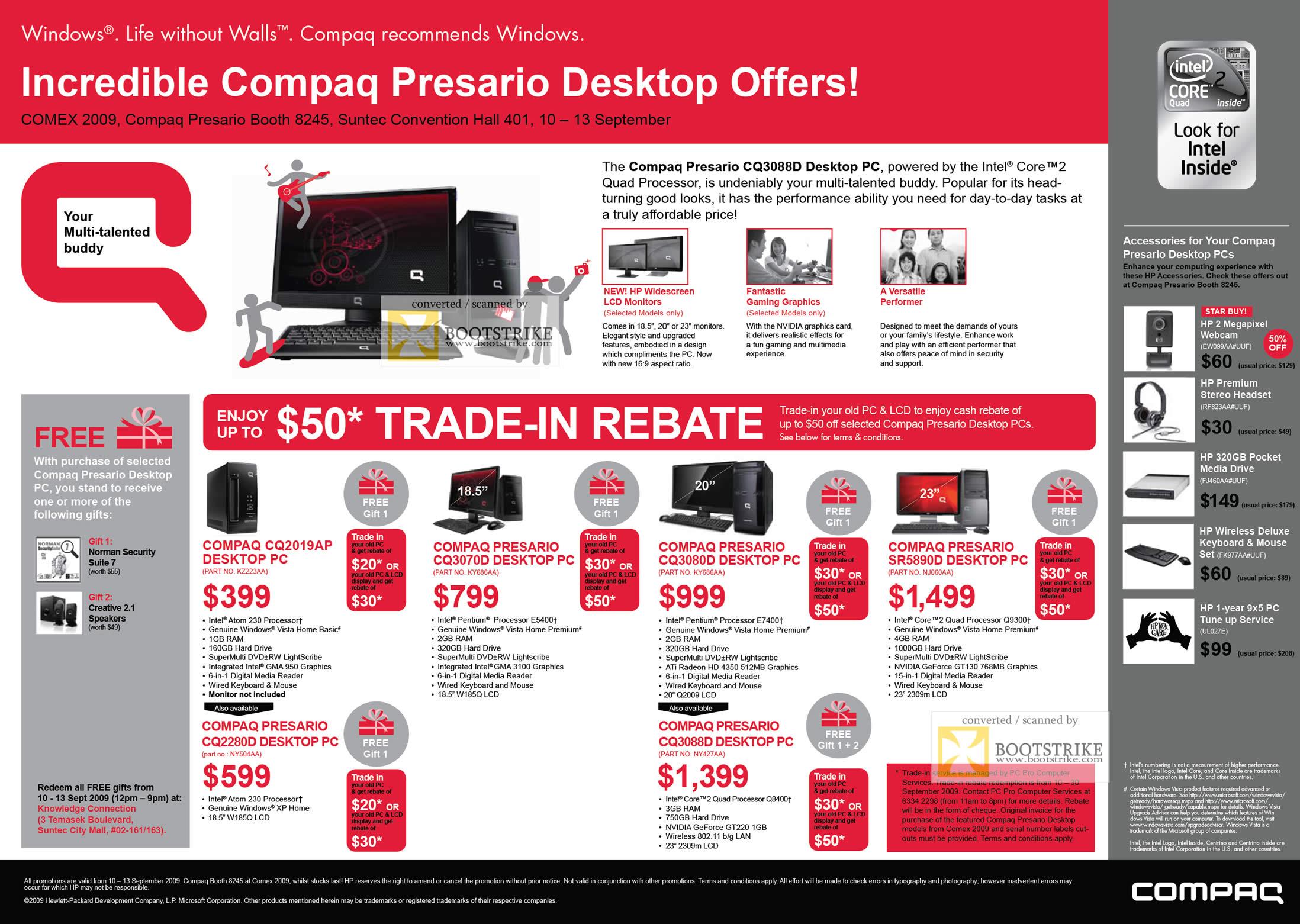 Comex 2009 price list image brochure of Compaq Presario Desktop CQ2019AP CQ3070D CQ3080D SR5890D CQ3088D CQ2280D