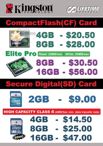 Comex 2009 price list image brochure of Convergent Kingston CompactFlash Elite Pro SD Card B6346