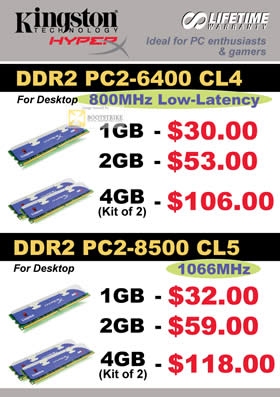 Comex 2009 price list image brochure of Convergent Kingston Hyper DDR2 Desktop RAM Memory B6346
