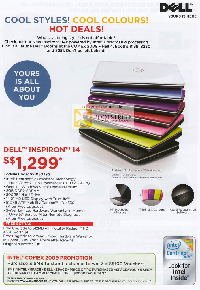 Comex 2009 price list image brochure of Dell Inspiron 14 Notebook