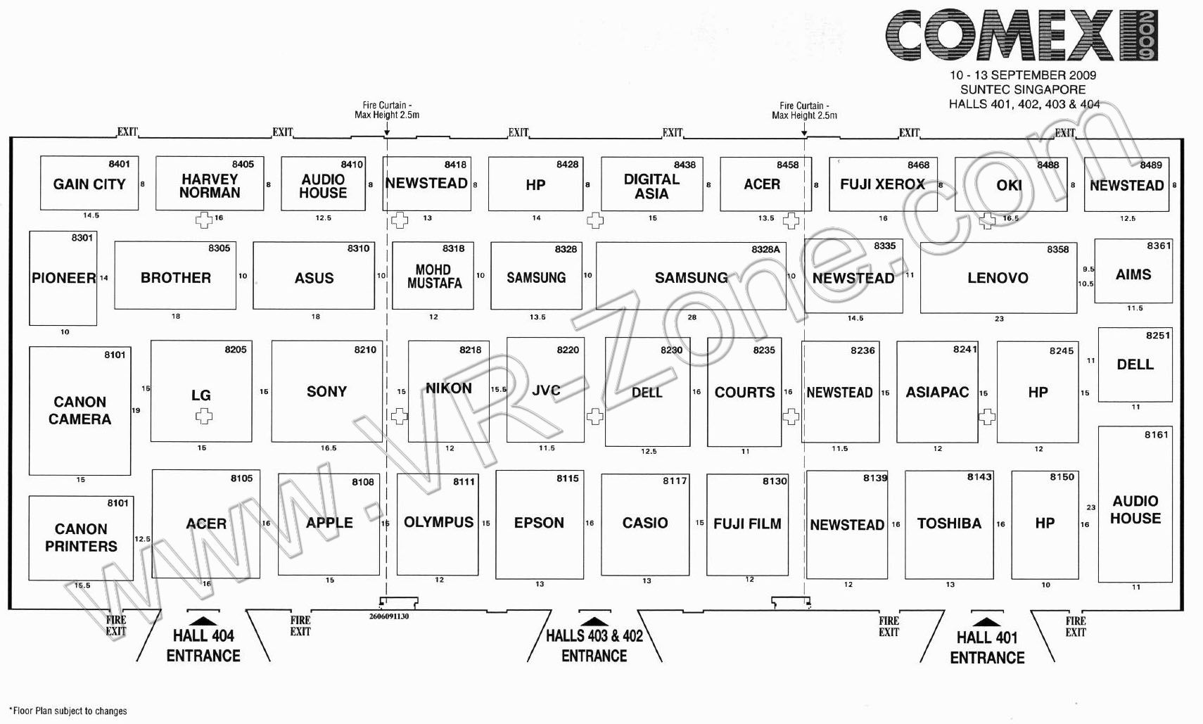 Comex 2009 price list image brochure of Floor Plan Map Level 4