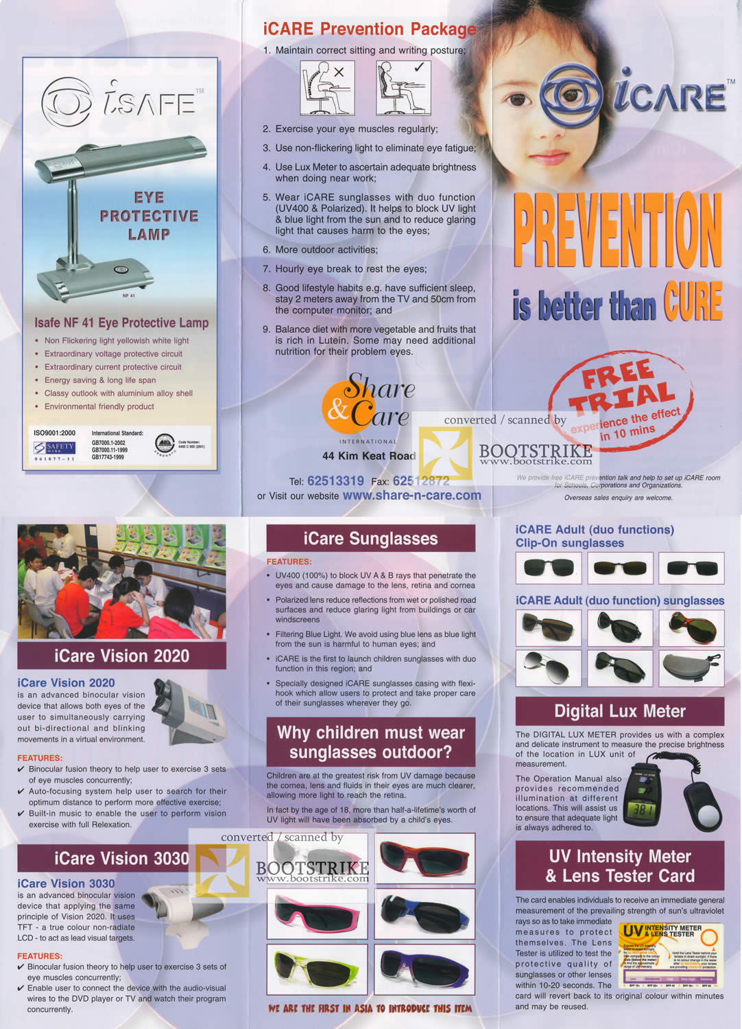 Comex 2009 price list image brochure of Isafe NF 41 Eye Protection Lamp