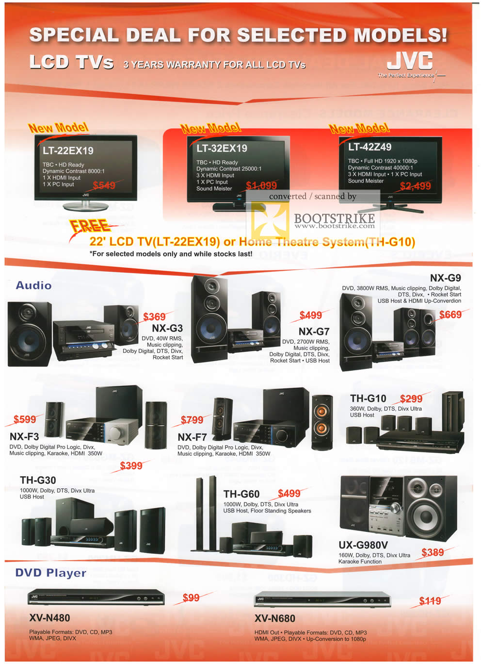 Comex 2009 price list image brochure of JVC LCD TV Hifi DVD Player