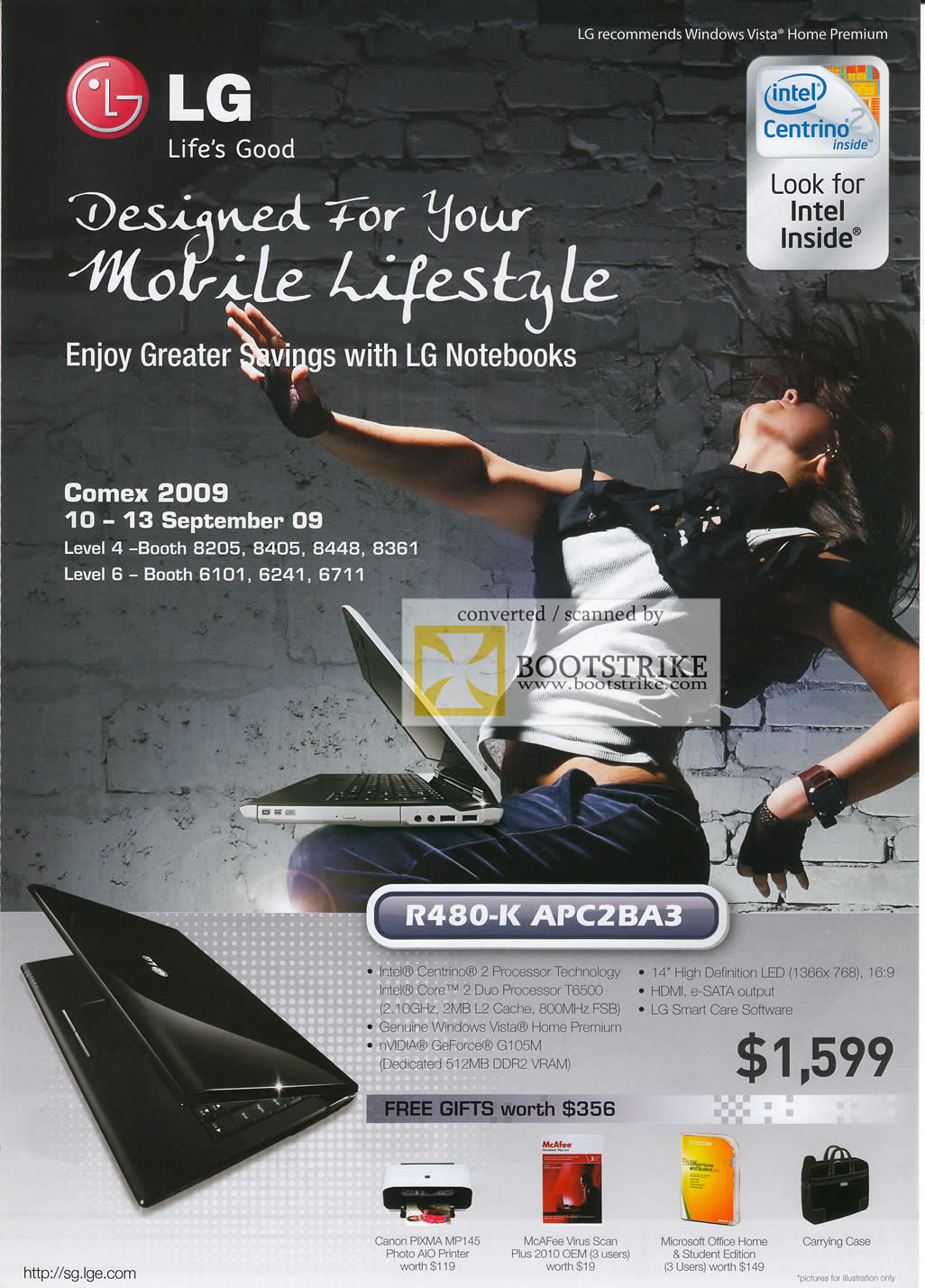 Comex 2009 price list image brochure of LG Notebook R480-K APC2BA3