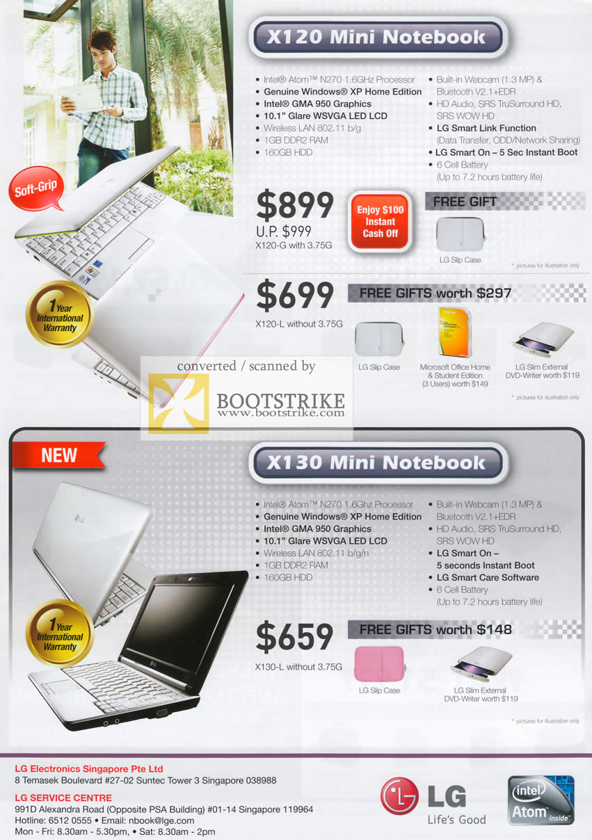 Comex 2009 price list image brochure of LG X120 Mini Notebook X130