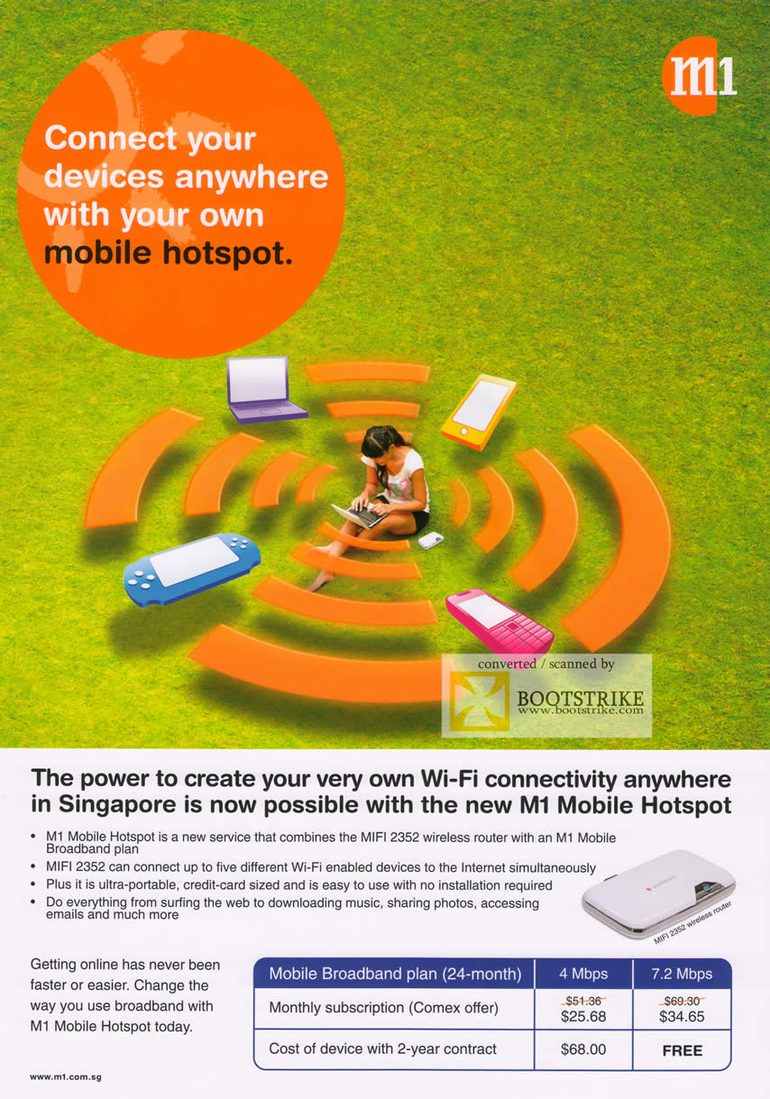 Comex 2009 price list image brochure of M1 Mobile Hotspot