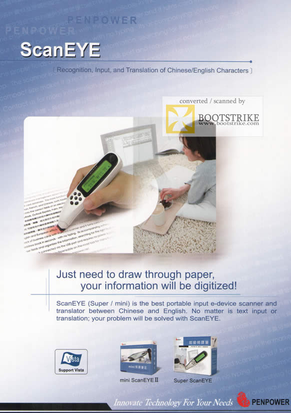 Comex 2009 price list image brochure of Penpower ScanEYE Recognition Input Translation Chinese English Characters