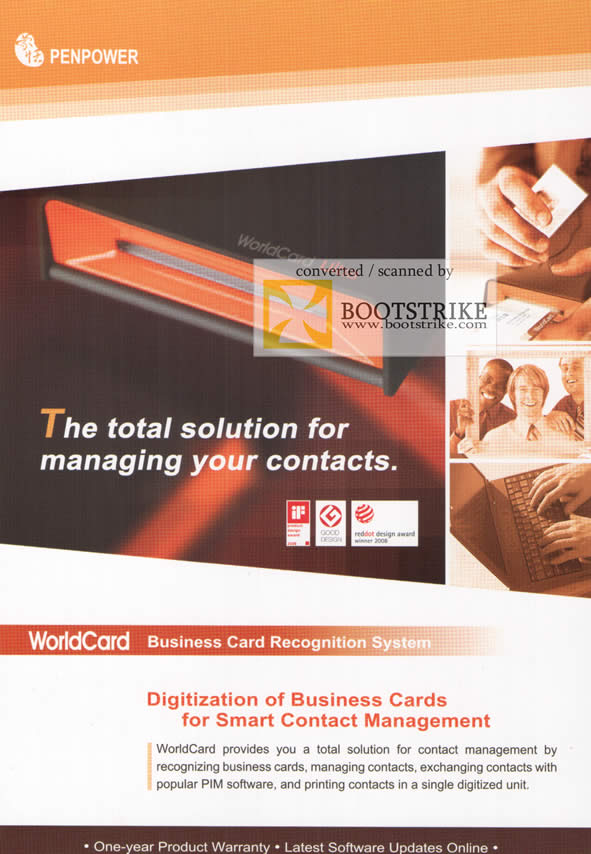 Comex 2009 price list image brochure of Penpower WorldCard Business Card Recognition System