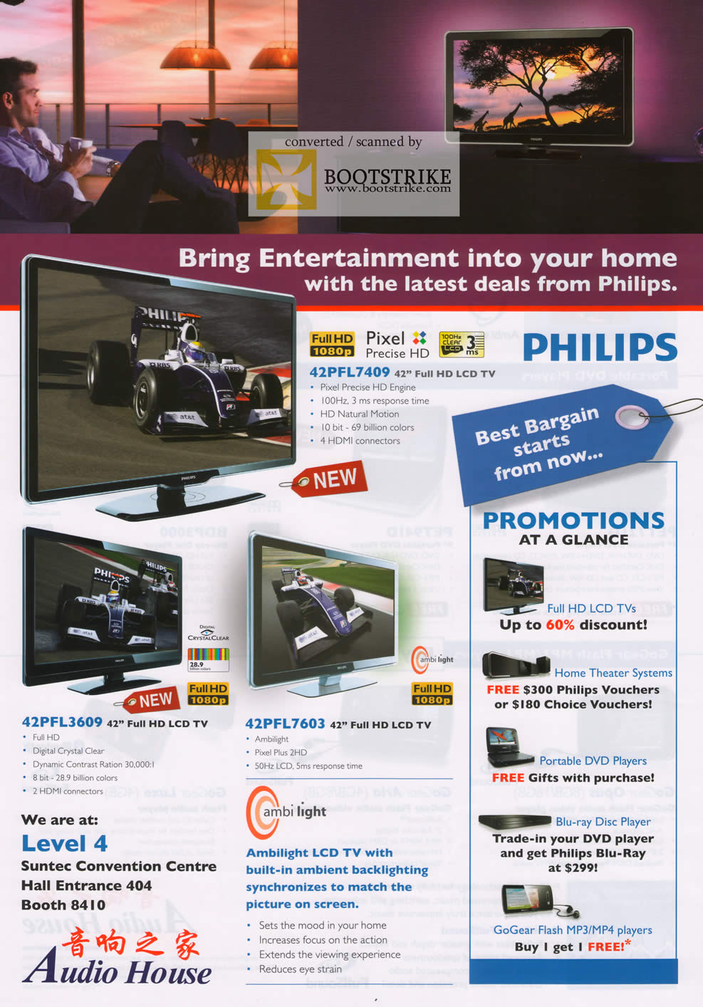 Comex 2009 price list image brochure of Philips LCD TV Audio House