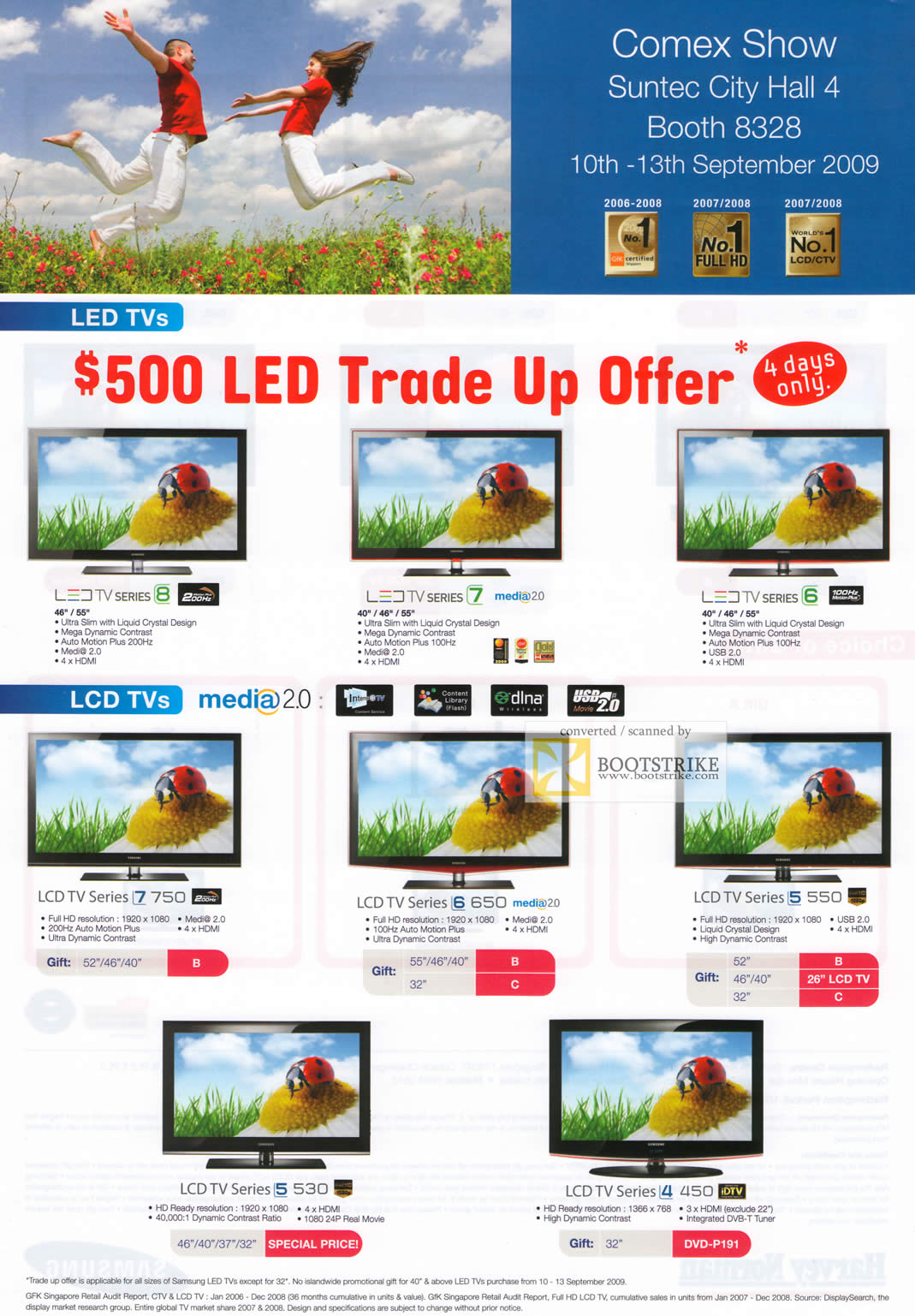 Comex 2009 price list image brochure of Samsung LED TV LCD TV Media 2.0