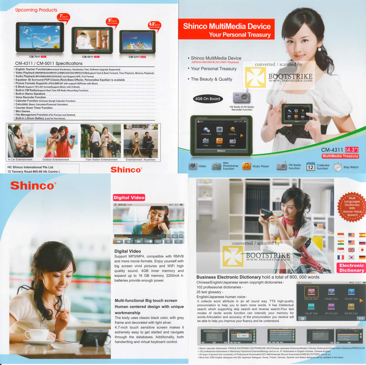 Comex 2009 price list image brochure of Shinco Multimedia Device CM-4311 CM-5011 FM Radio Video Music