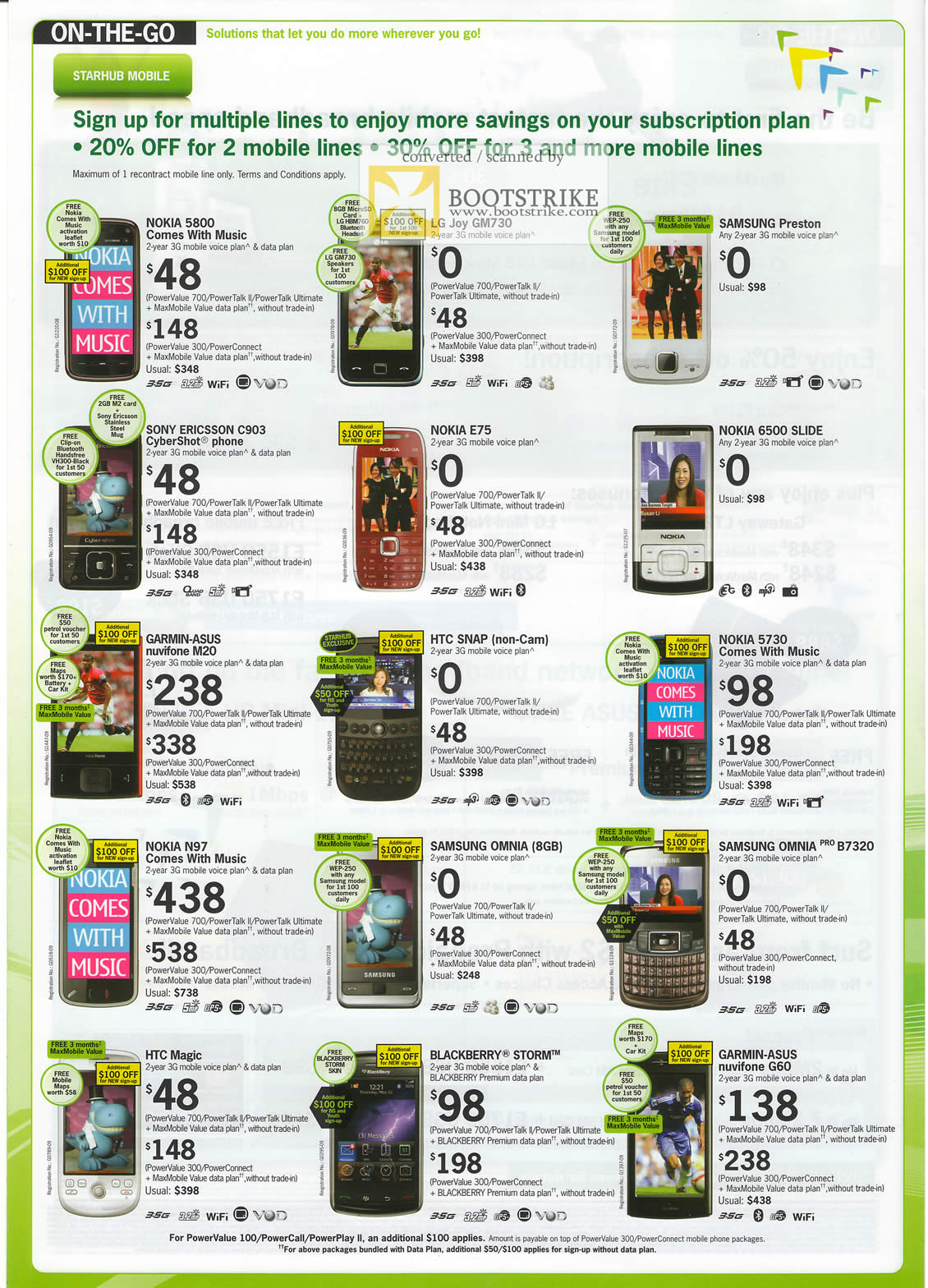 Comex 2009 price list image brochure of Starhub Mobile Phones Nokia LG Samsung Sony Ericsson Garmin ASUS