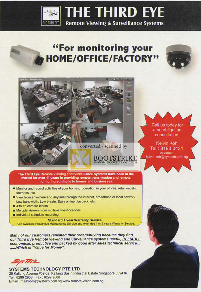 Comex 2009 price list image brochure of Systems Tech The Third Eye Remote Viewing Surveillance