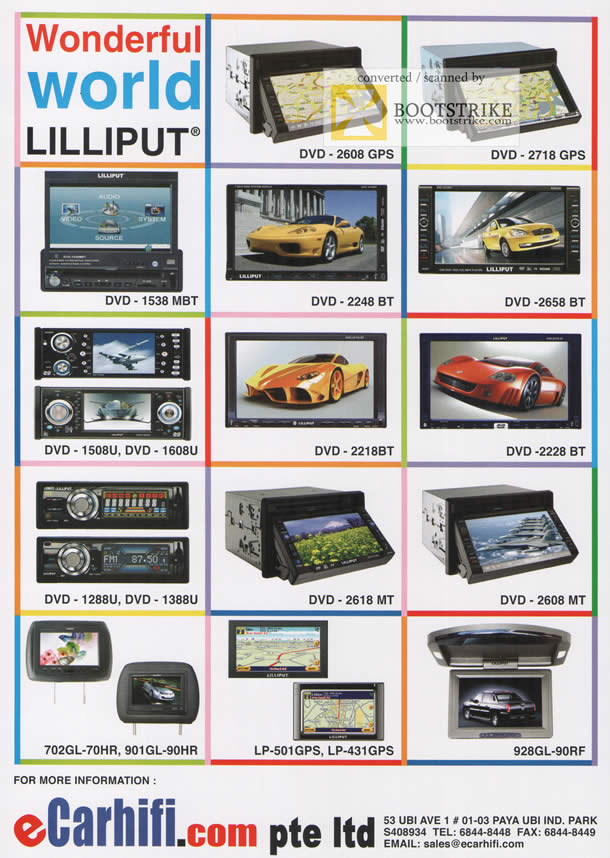 Comex 2009 price list image brochure of ECarhifi Lilliput Products DVD GPS LP 928GL