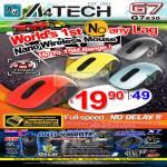 A4Tech Nano Wireless Mouse G7 630 Laser Gaming Mouse X7 Oscar