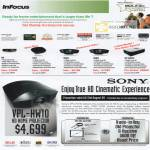 InFocus Projectors X9 X10 IN81 IN83 SP8602 Sony VPL HW10