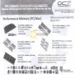 OCZ Performance Memory RAM DDR2 DDR3