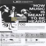 Ultimate Ears 700 TripleFi SuperFi MetroFi LoudEnough