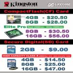 Kingston CompactFlash Elite Pro SD Card B6346