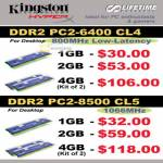 Kingston Hyper DDR2 Desktop RAM Memory B6346