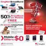 Singnet Broadband BBOM Mobile Offers