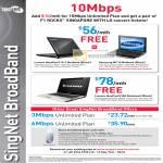 Singnet Broadband Lenovo IdeaPad S10 Samsung NC10 Netbook U310