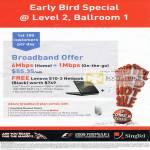 Singnet Early Bird ADSL Broadband On Mobile Offer