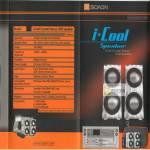 ICool Crystal Stereo USB Speaker