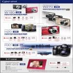 Cybershot Digital Cameras W180 H20 HX1 W270 DPF D72 S-Frame Digital Photo