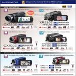HandyCam Camcorders CX520E XR520E XR500E CX100E XR200E XR100E SX40E SR47E SR67E