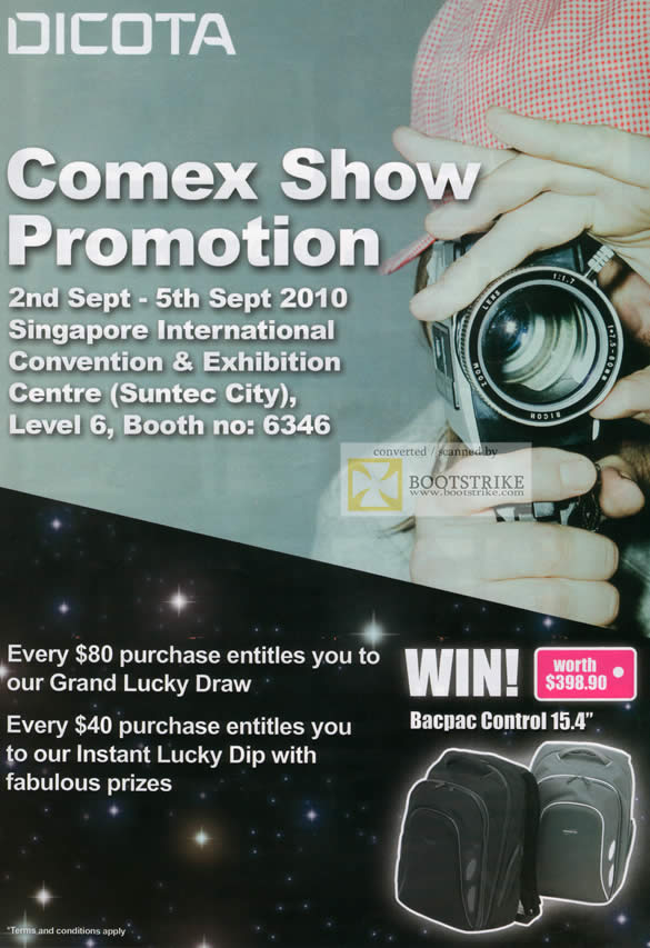 Comex 2010 price list image brochure of Convergent Dicota Lucky Draw Dip