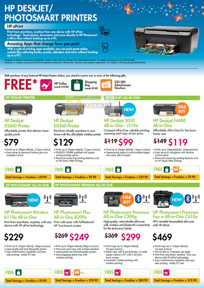 Comex 2010 price list image brochure of HP Deskjet Photosmart Printers D2660 D5560 2050 J510a F4480 All In One AIO B110a Wireless B209a C309g C410a Premium