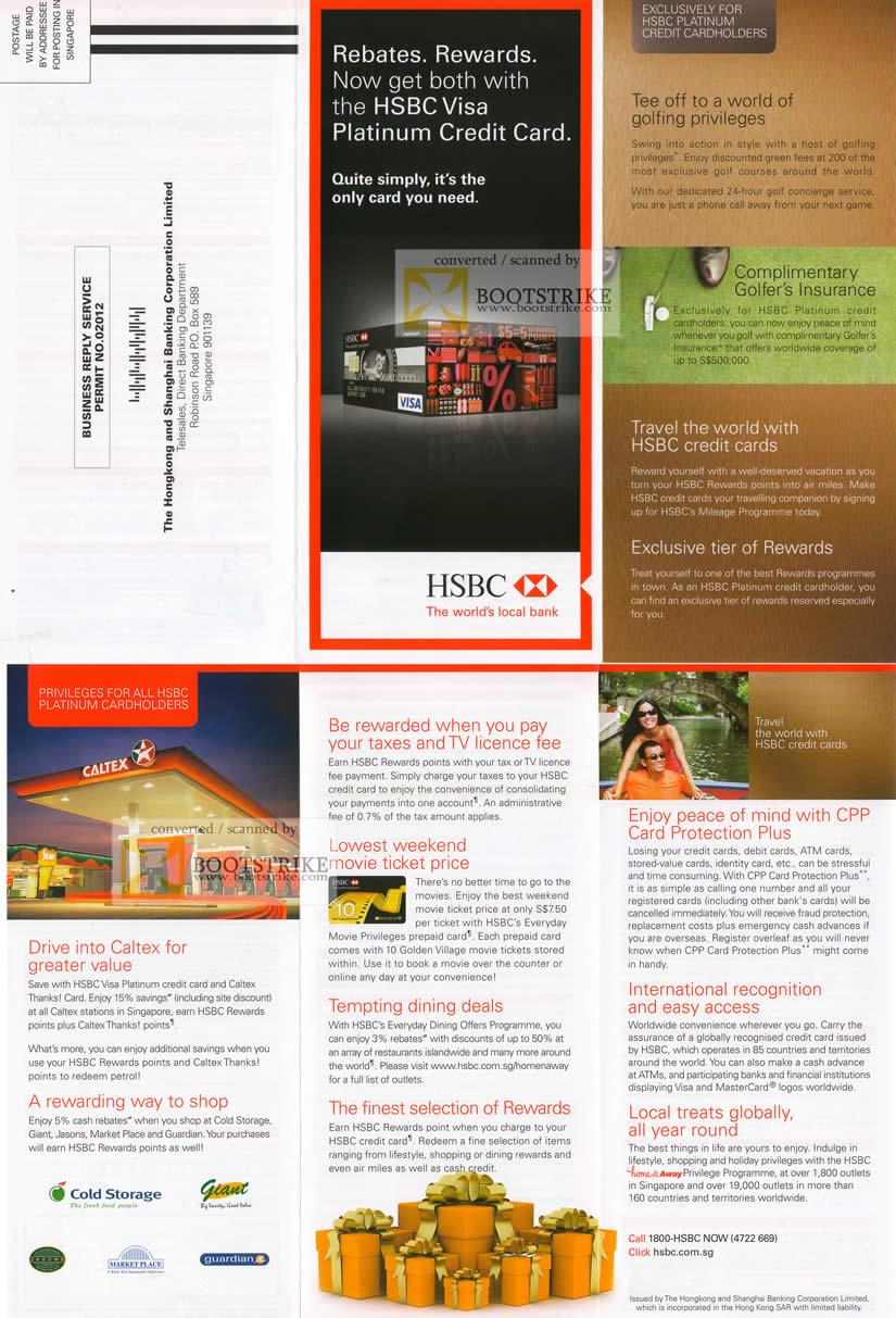 Hsbc Visa Platinum Credit Card Rewards Caltex Taxes Tv