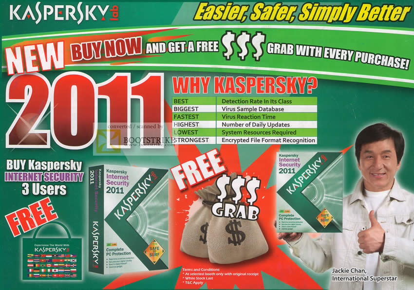 Comex 2010 price list image brochure of Techlane Kaspersky Internet Security 2011 Why