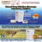 HL110EW Powerline Ethernet Adapter Gigabit HL280E Mediaxtream Homeplug