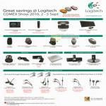 Logitech Universal Remote Keyboard Wireless Mouse Webcam Cooling Pad Speaker Ultimate Ears TripleFi SuperFi MetroFi