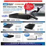 Western Digital External Storage Elements Play Media Player Portable Desktop TV Mini