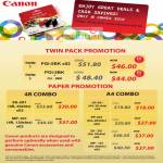 Ink Cartridges Twin Pack 4R A4 Combo Photo Paper