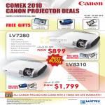 Projectors LV7280 LV8310