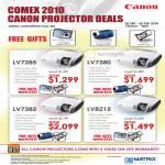 Projectors LV7285 LV7380 LV7385 LV8215