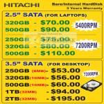 Hitachi Internal Hard Disk Sata Notebook Desktop