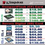 Kingston CompactFlash CF Card Elite Pro SDHC Class 4 6 Secure Digital SD